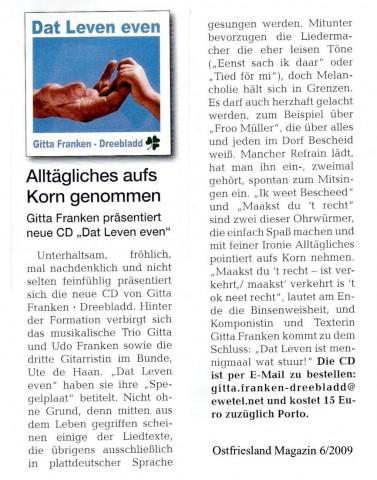 Ostfriesland Magazin 6-2009