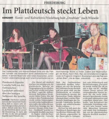 Anzeiger für Harlingerland, 08.04.2010