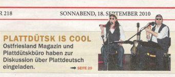 Ostfriesischer Kurier, 18.09.2010, Seite 1
