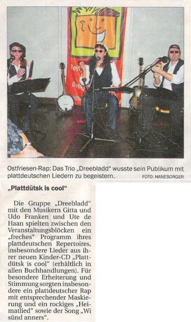 Ostfriesischer Kurier, 18.09.2010, S. 20 (Ausschnitt)
