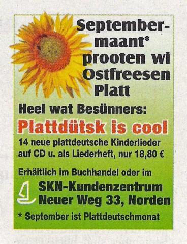Titelkopfanzeige, Ostfriesischer Kurier, 01.09.2010
