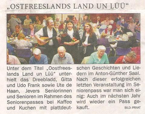 NWZ-Friesland, 09.11.2011