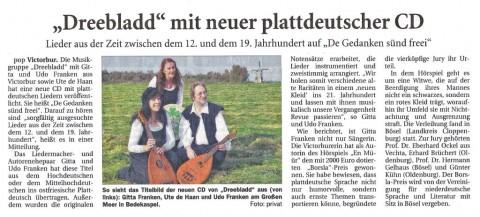 Ostfriesische Nachrichten, 11.01.2012