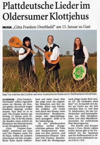 Ostfriesen Zeitung, 07.01.2012