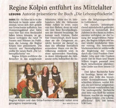 Jeversches Wochenblatt, 21.04.2012
