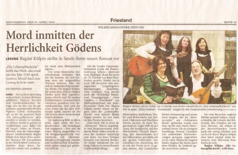 Wilhelmshavener Zeitung, 21.04.2012
