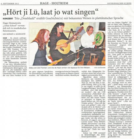 Ostfriesischer Kurier, 06.09.2012