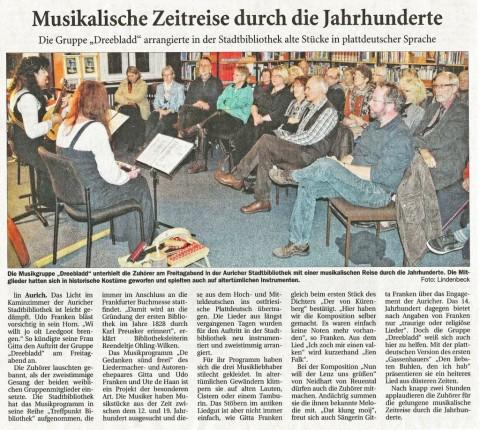 Ostfriesische Nachrichten, 29.10.2012