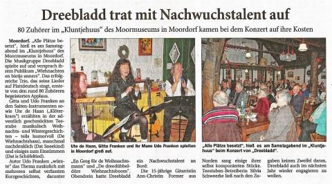 Ostfriesische Nachrichten, 18.12.2013