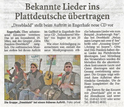 Ostfriesische Nachrichten, 26.02.2014