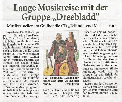 Ostfriesische Nachrichten, 25.03.2014