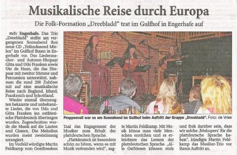Ostfriesische Nachrichten, 01.04.2014