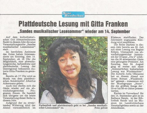 Neue Rundschau, 03.09.2014