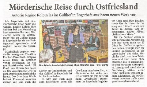 Ostfriesische Nachrichten, 16.09.2014