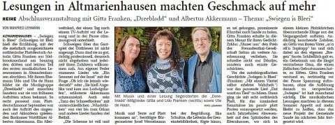 Wilhelmshavener Zeitung, 16.09.2014