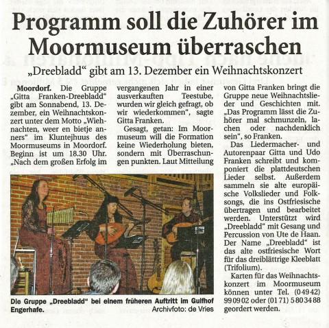 Ostfriesische Nachrichten, 01.11.2014