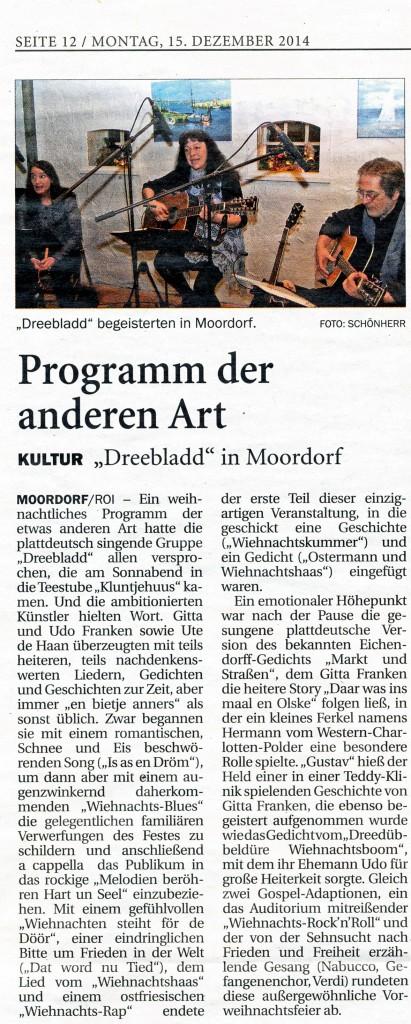 Ostfriesischer Kurier, 15.12.2014