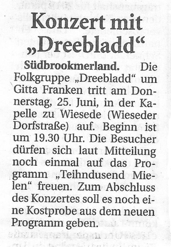 Ostfriesische Nachrichten, 24.06.2015