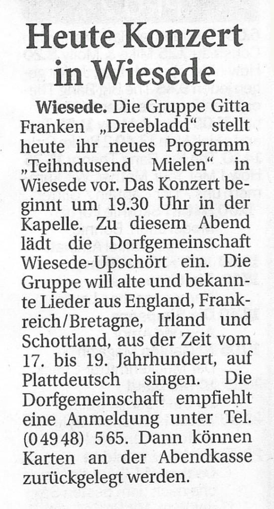 Ostfriesische Nachrichten, 25.06.2015