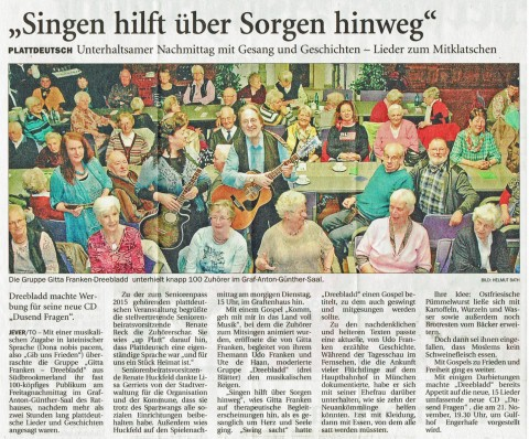 Jeversches Wochenblatt, 26.10.2015