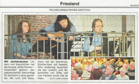Wilhelmshavener Zeitung, 24.10.2015