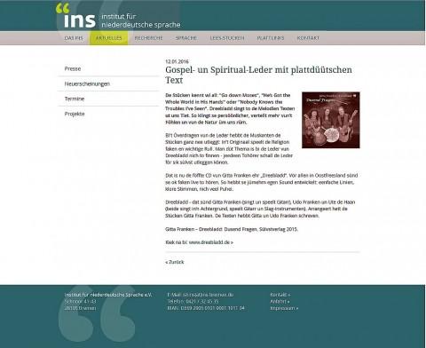 Screenshot: Dusend Fragen in der INS-Musikdatenbank