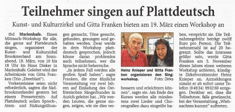 Ostfriesische Nachrichten, 04.03.2016