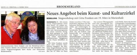 Ostfriesischer Kurier, 04.03.2016