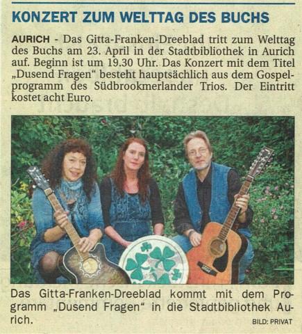 Ostfriesen-Zeitung, 24.03.2016