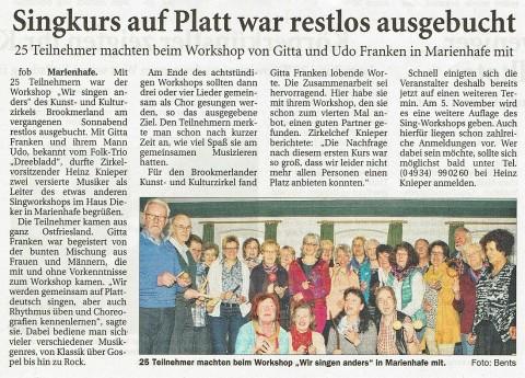 Ostfriesische Nachrichten, 23.03.2016