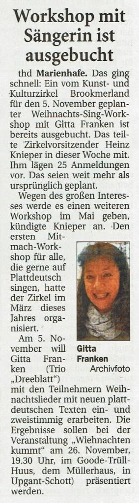 Ostfriesische Nachrichten, 21.10.2016