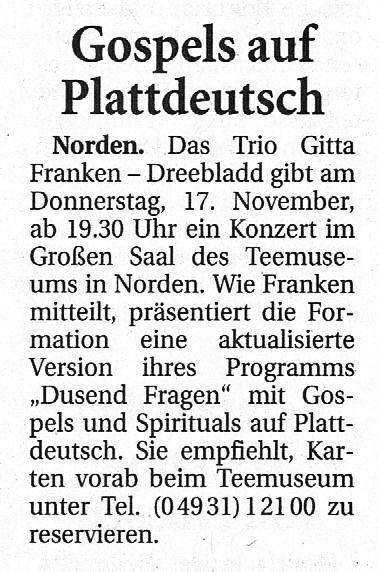 Ostfriesische Nachrichten, 08.11.2016, Seite 5