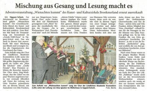 Ostfriesische Nachrichten, 29.11.2016