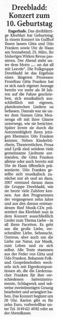 Ostfriesische Nachrichten, 06.03.2017