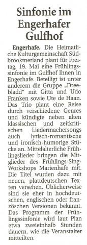 Ostfriesische Nachrichten, 19.04.2017