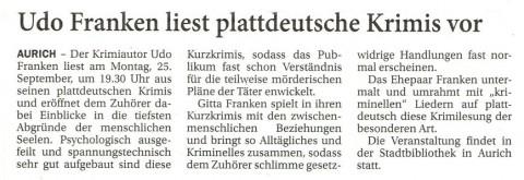 Ostfriesischer Kurier, 18.09.2017