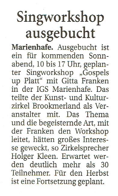 Ostfriesische Nachrichten, 06.03.2018