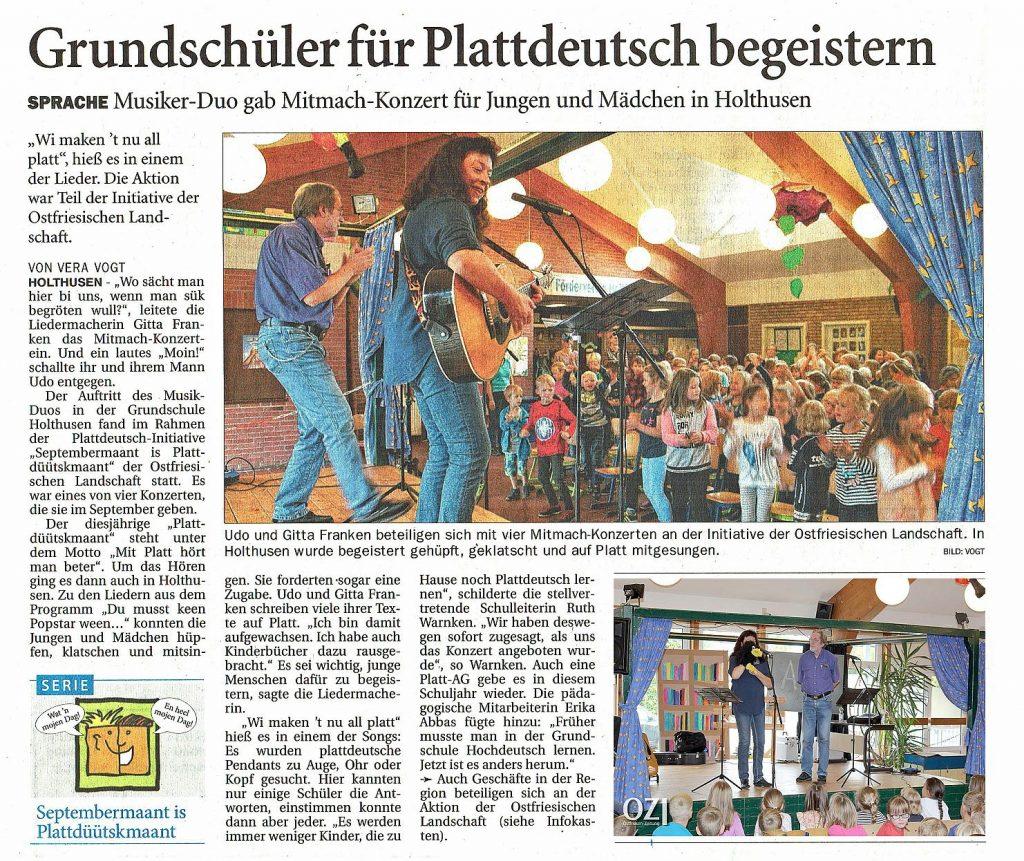 Ostfriesen-Zeitung, 22.09.2018