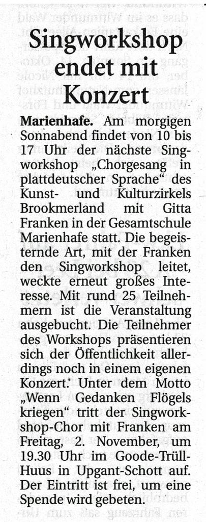 Ostfriesische Nachrichten, 12.10.2018