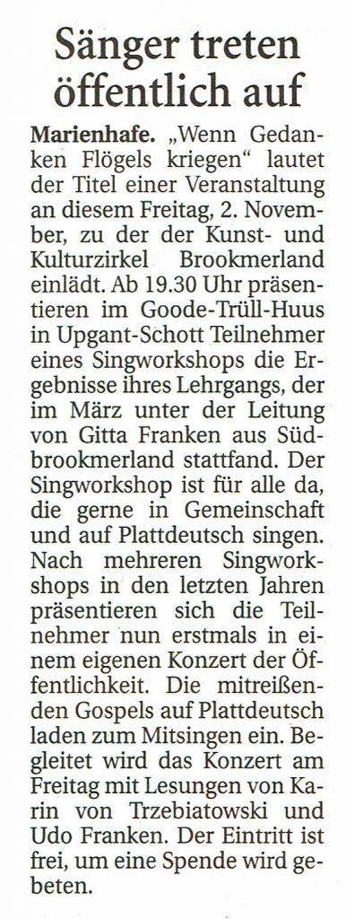 Ostfriesische Nachrichten, 30.10.2018