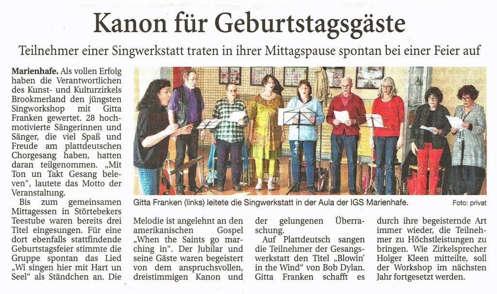Ostfriesische Nachrichten, 05.04.2019