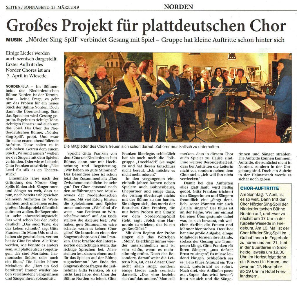 Ostfriesischer Kurier, 23.03.2019
