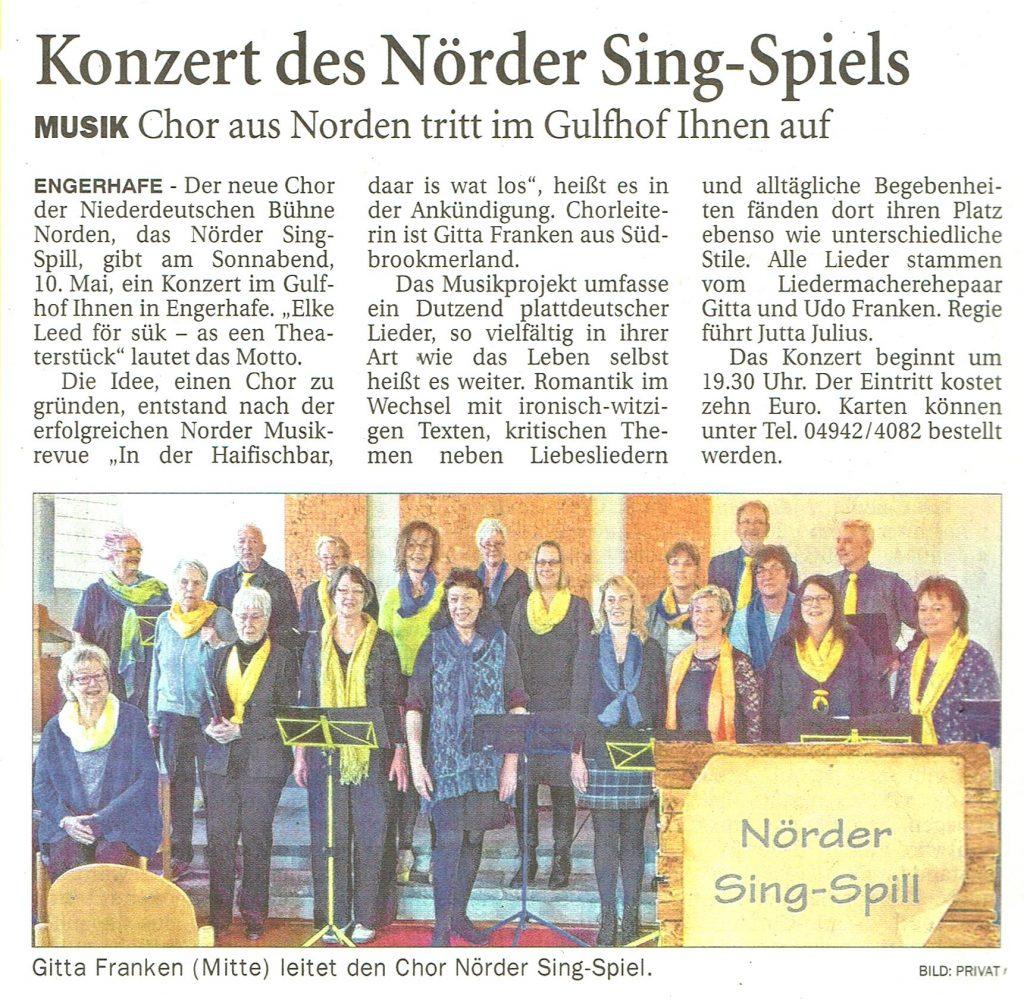 Ostfriesen-Zeitung, 26.04.2019
