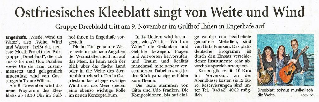 Ostfriesische Nachrichten vom 01.11.2019