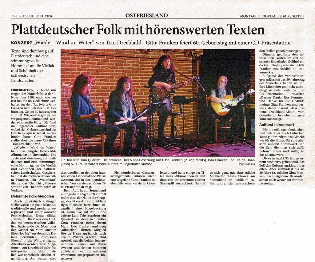 Ostfriesischer Kurier vom 11.11.2019